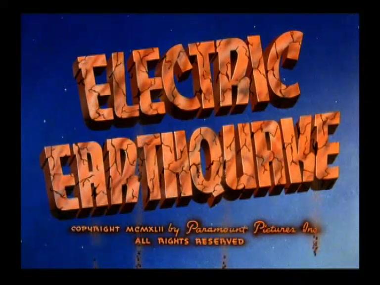 SUPERMAN **Electric Earthquake** 1942