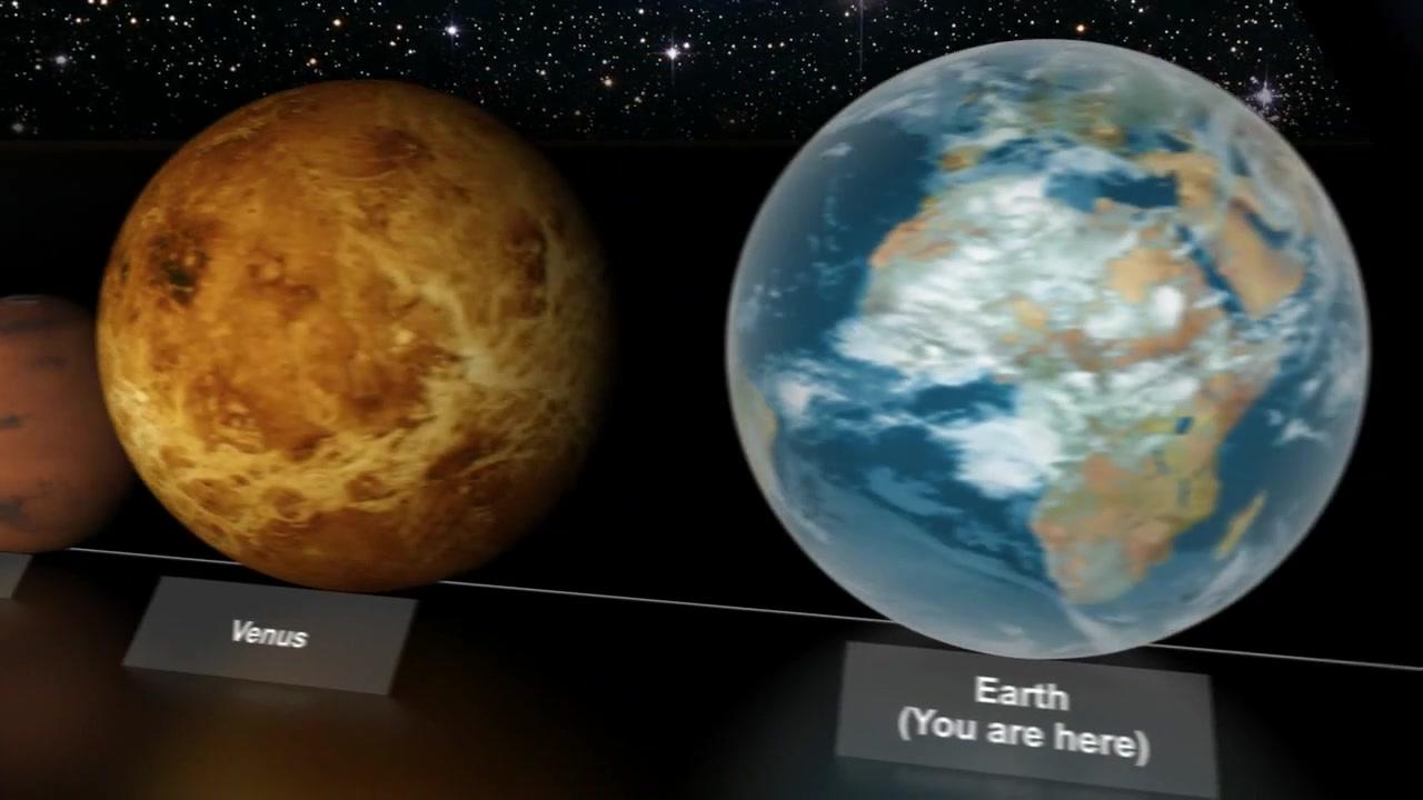 NASA **STAR SIZE COMPARISON** 2012